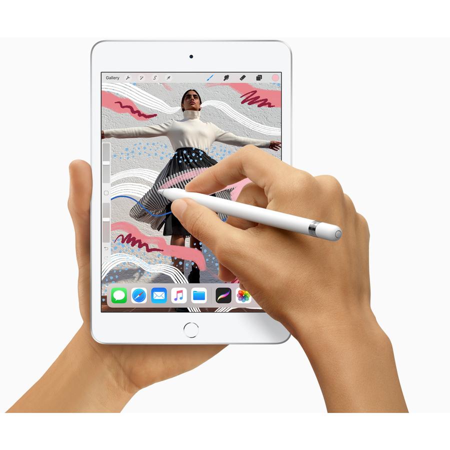 Apple iPad mini 5th Generation Tablet - 20.1 cm 7.9And#34; - 64 GB Storage - iOS 12 - 4G - Silver - Apple A12 Bionic SoC - 7 Megapixel Front Camera - 8 Megapixel Rear