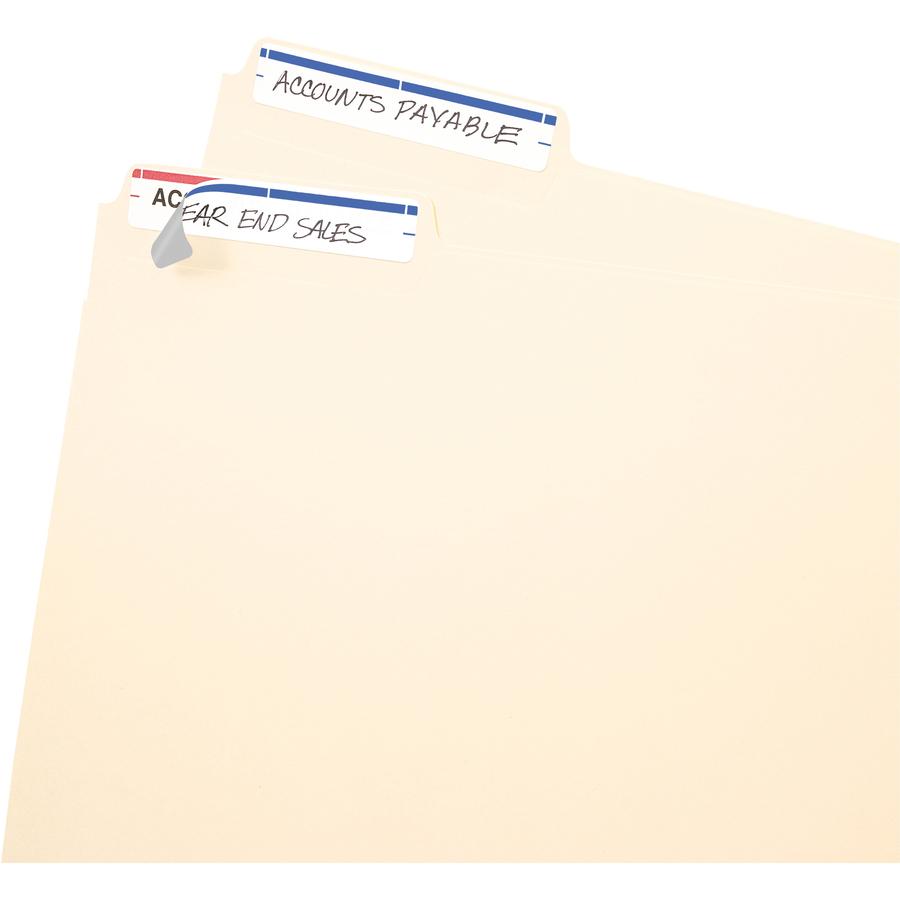 Avery 5200 Write Or Print On Permanent File Folder Labels, White/Dark Blue  - 252/Pack