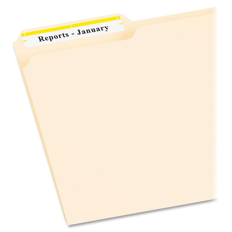 Avery® Permanent File Folder Labels with TrueBlock Technology - Permanent  Adhesive - 21/32