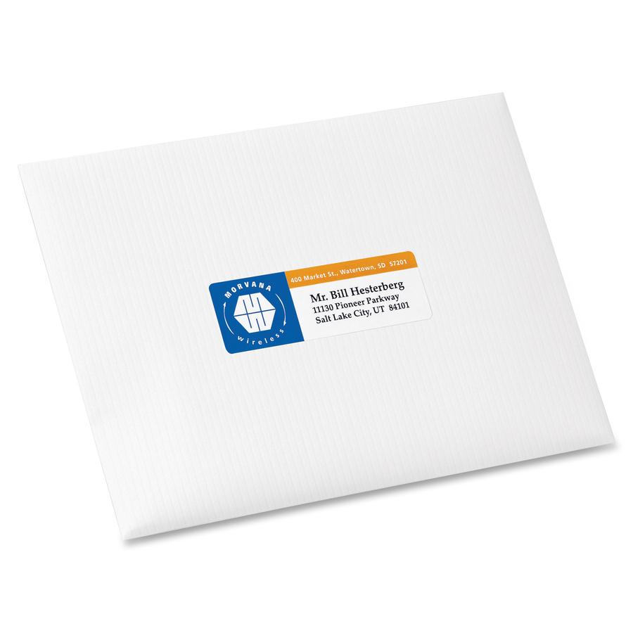 Avery White Print To The Edge Address Labels 3 4 Width X 1 Length