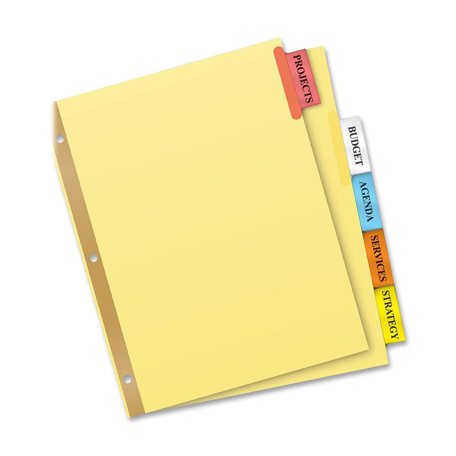 8 tab divider template word - avery big tab buff colored insertable dividers gold