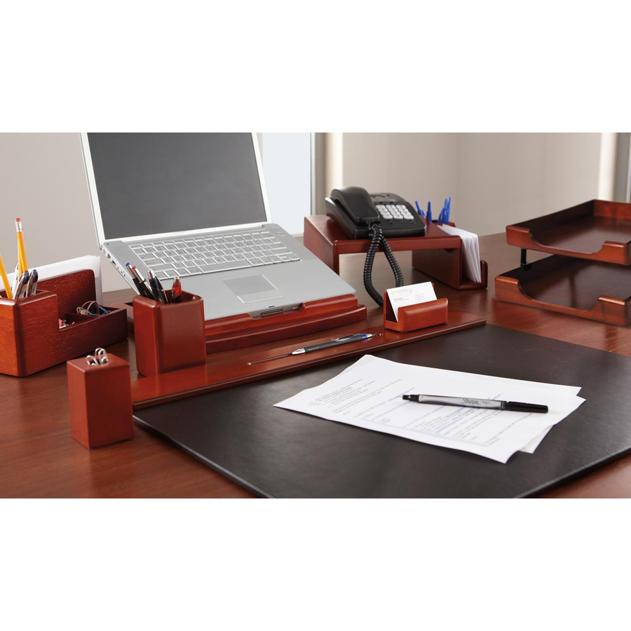 Rolodex Wood Tones Front Loading Letter Trays 1 Tier S 2 Height X 13 5 Width 10 Depth Desktop Mahogany 1each