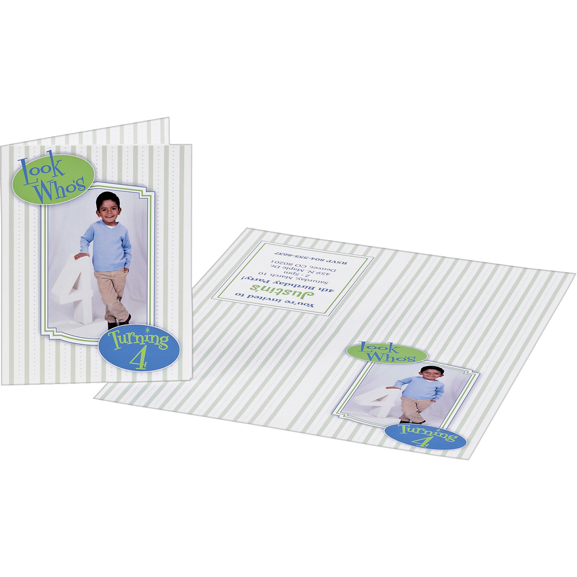 """Avery® Inkjet Greeting Card - 2121211 21211/2121211"""" x 21211 21211/21"""" - Matte - 210 / Pack Within Quarter Fold Greeting Card Template"""