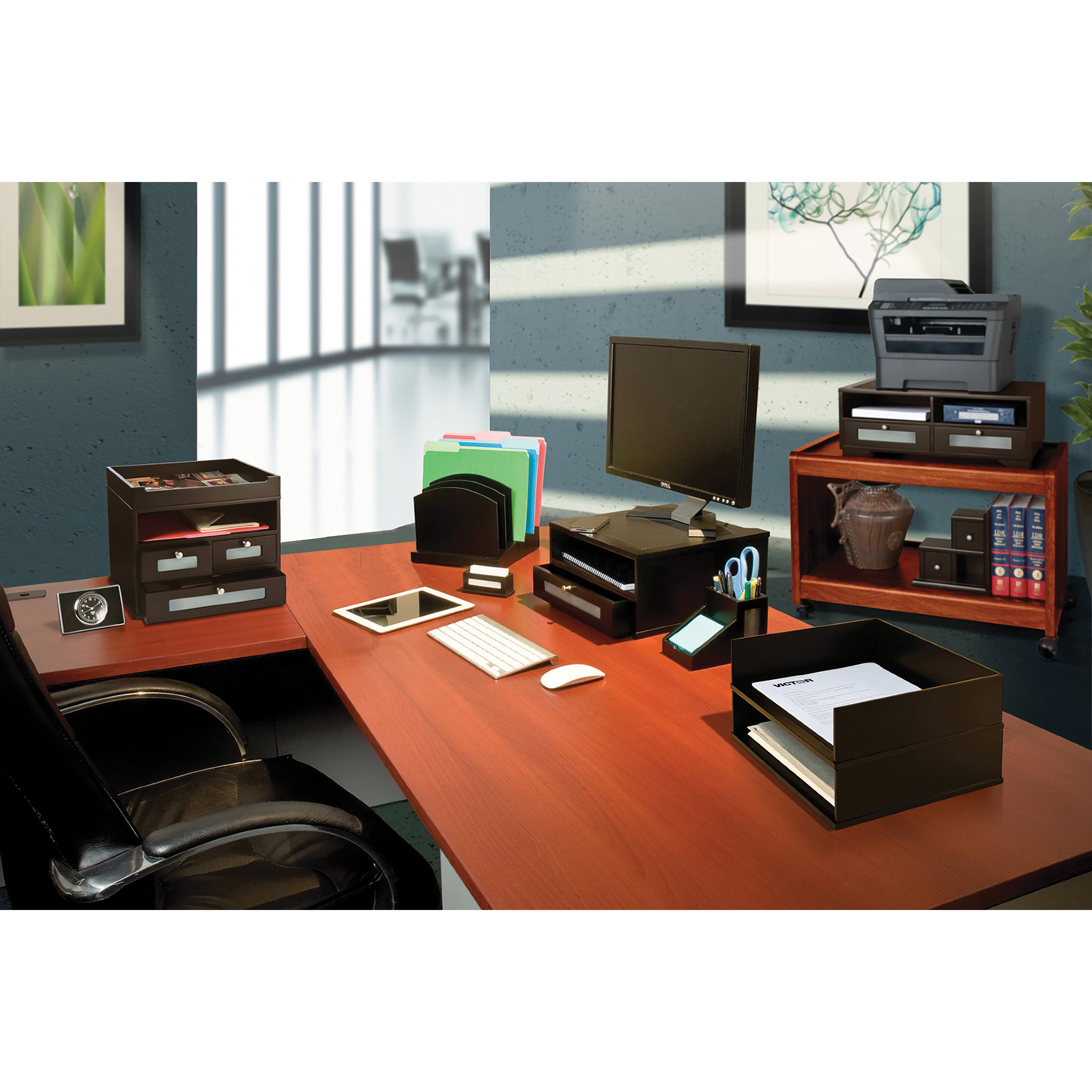 VICTOR 5500-5 Tidy Tower,Black
