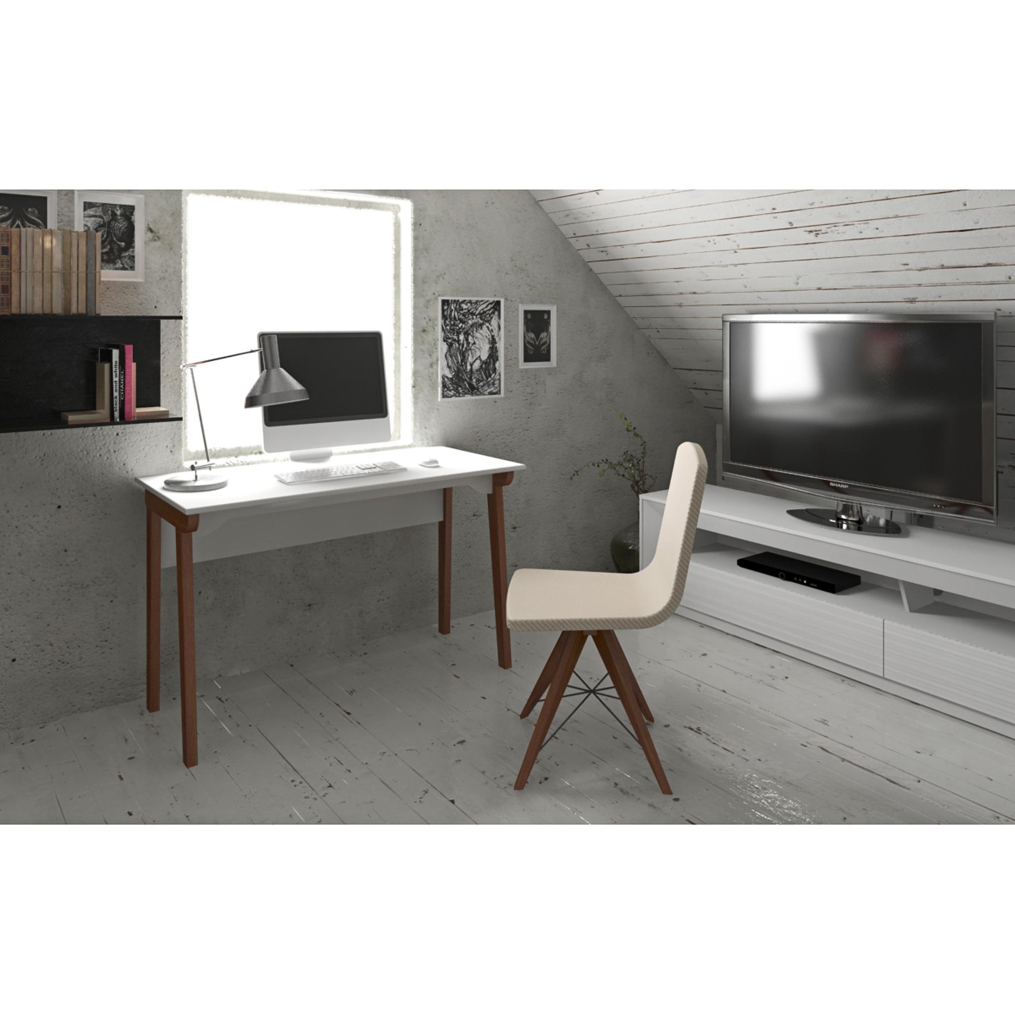 Llr 34500 Lorell Mid Century Modern Office Desk Lorell Furniture