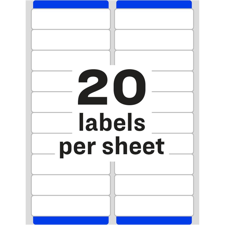 avery white easy peel address labels servmart