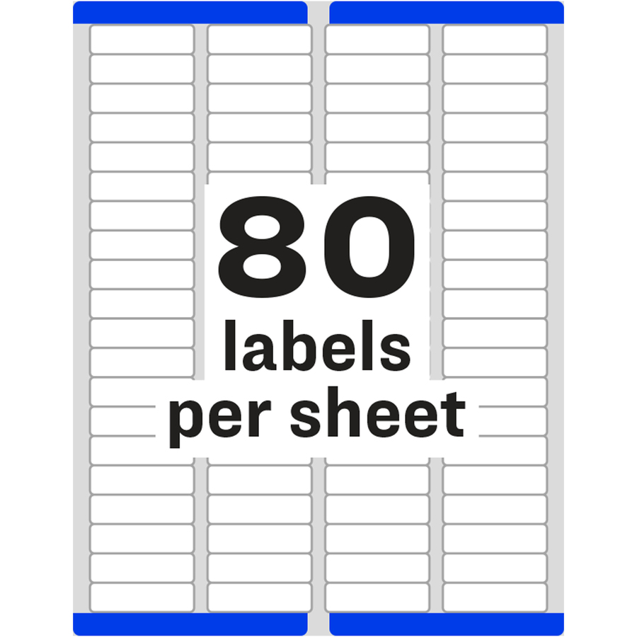 Avery white easy peel address labels ave 18167 for Avery template 5167 download