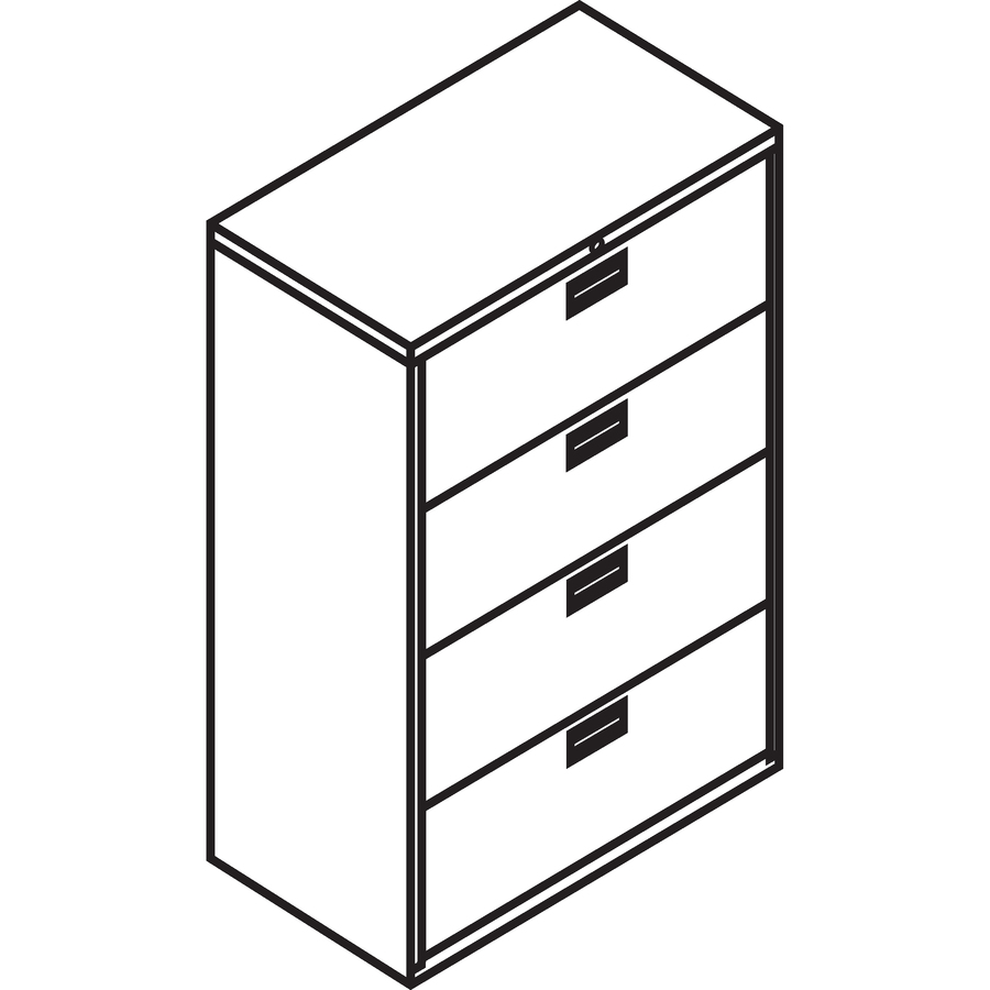 File Cabinet Clip Art: HON 684LQ, HON 600 Series Standard Lateral File With Lock