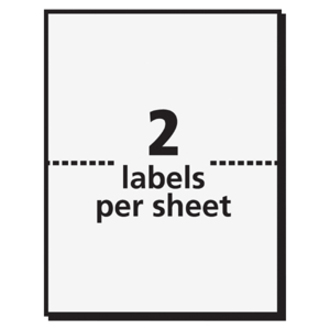 Avery adhesive name badge labels servmart for Avery template 5144