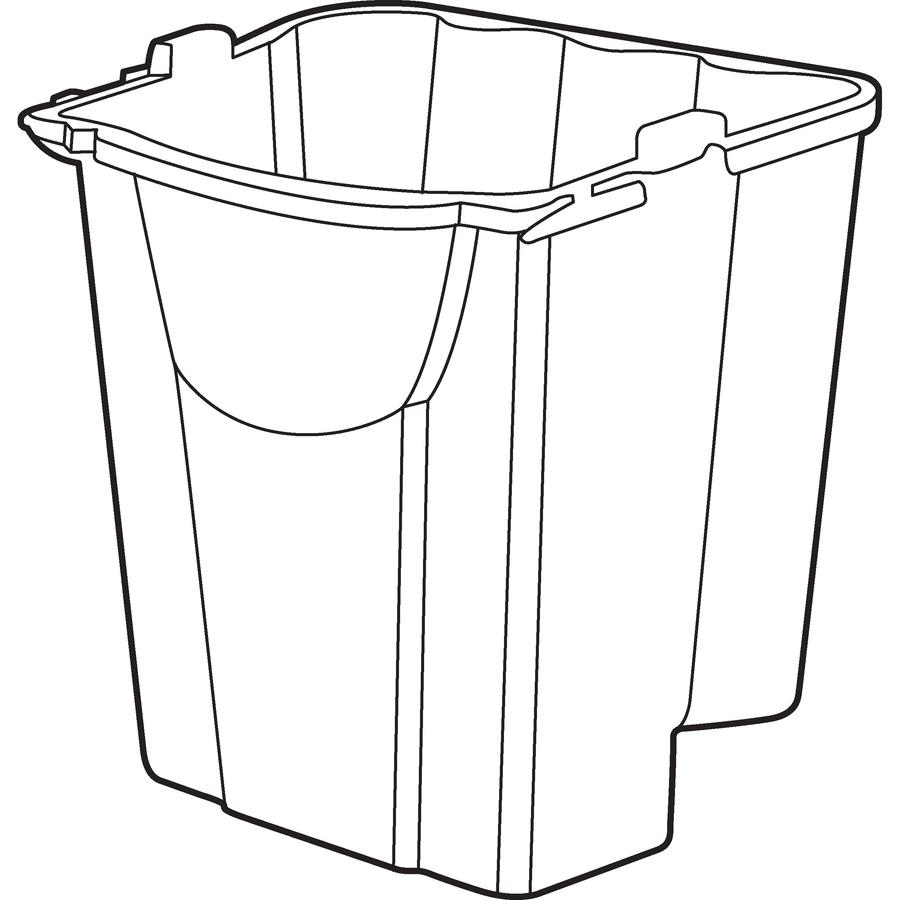 Line Drawing In Qt : Bulk rubbermaid wavebrake qt dirty water bucket rcp c rd
