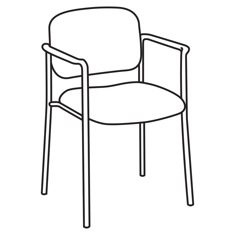basyx by hon hvl616 stacking guest chair icc business products