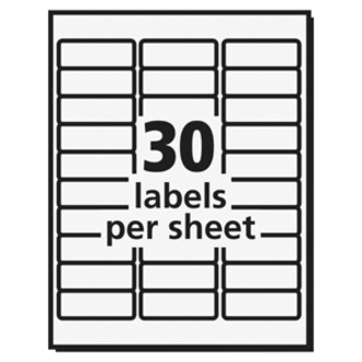 avery ecofriendly address labels icc business products office