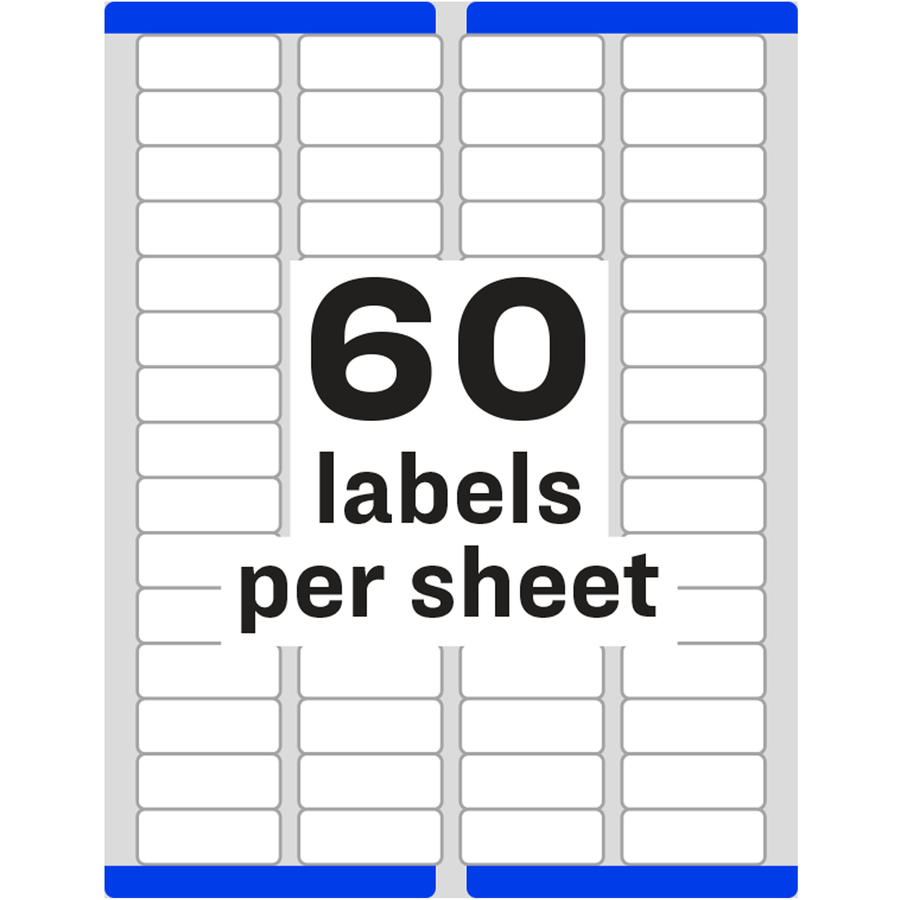 Avery easy peel return address label ave5155 for Free template for labels 30 per sheet