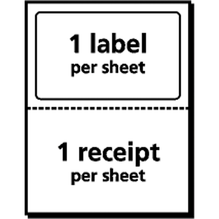 aa35f11d62536 Avery® Shipping Labels with Paper Receipt with TrueBlock Technology