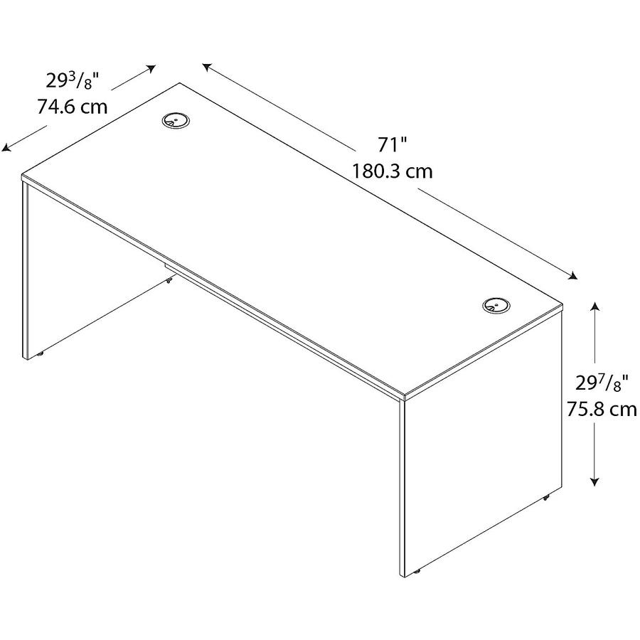 Bush Business Furniture Series C72W Desk Shell in Warm Oak