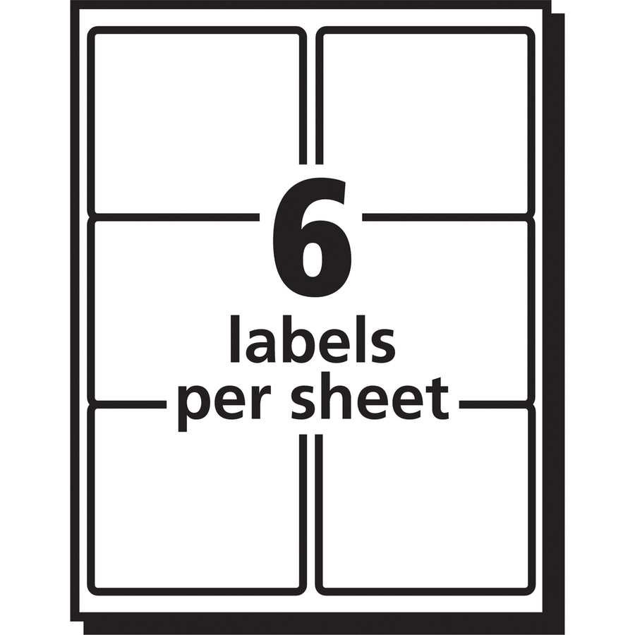 avery easy peel mailing label permanent adhesive 3 21 64 width