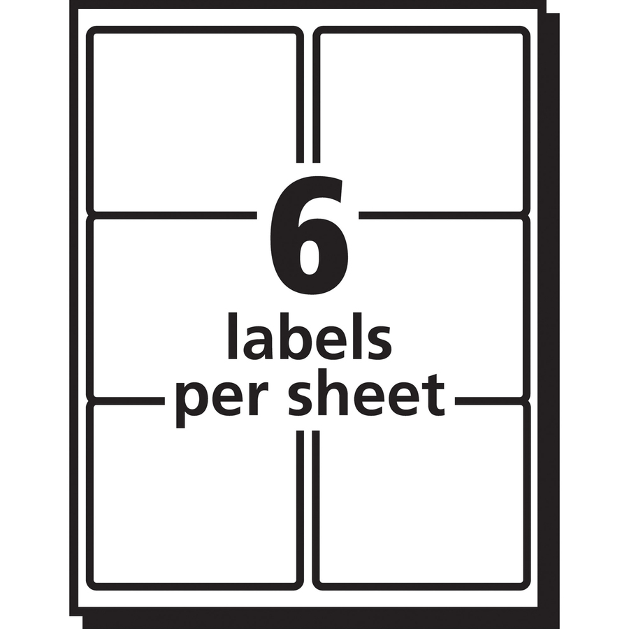 avery matte clear easy peel shipping labels mac papers inc