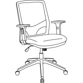 lorell executive mesh fabric swivel chair direct office buys