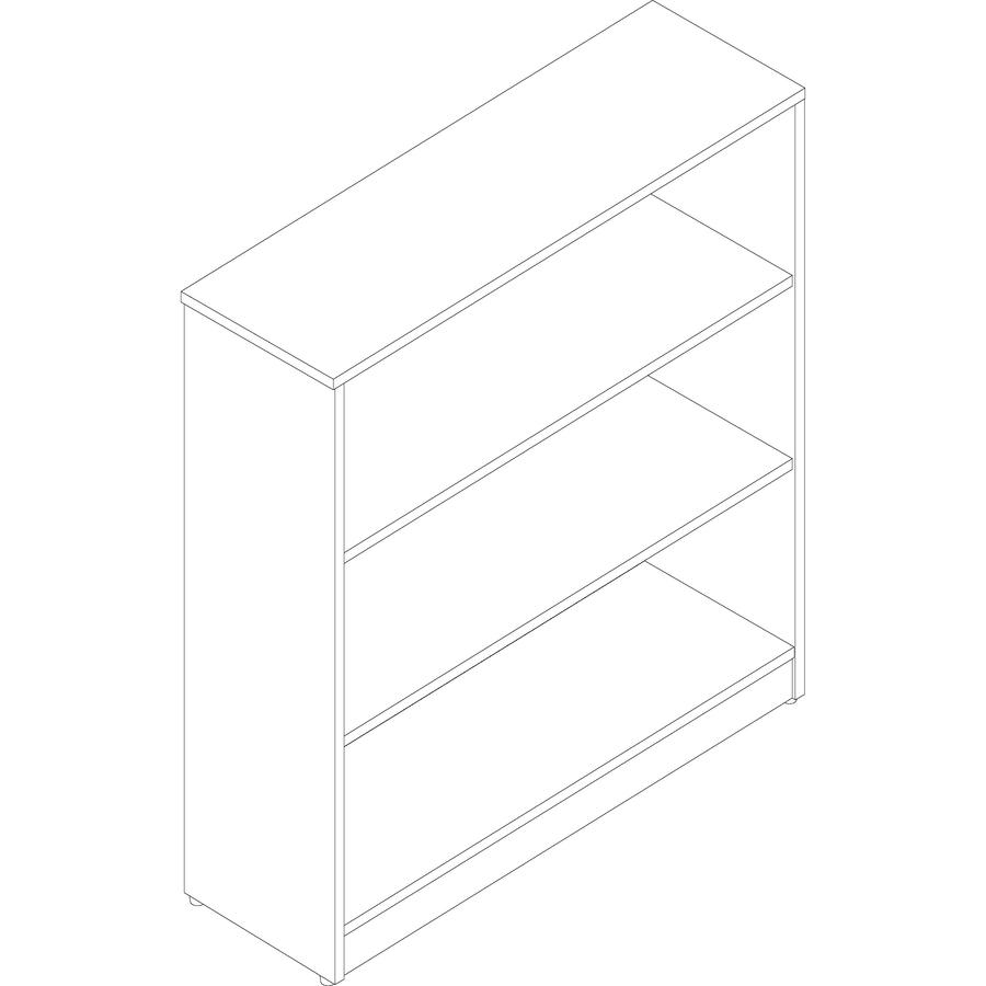 Lorell Essentials Series Walnut Laminate Bookcase