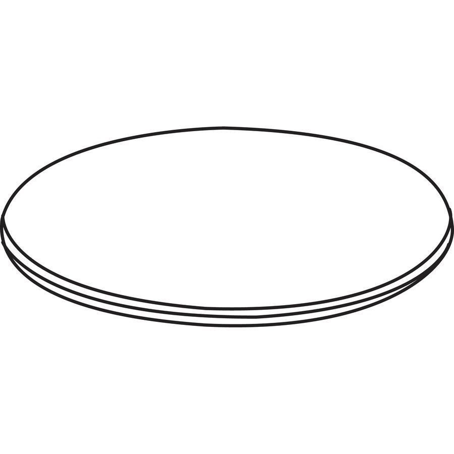 Lorell Essentials Series Walnut Laminate Round Table --LLR69989