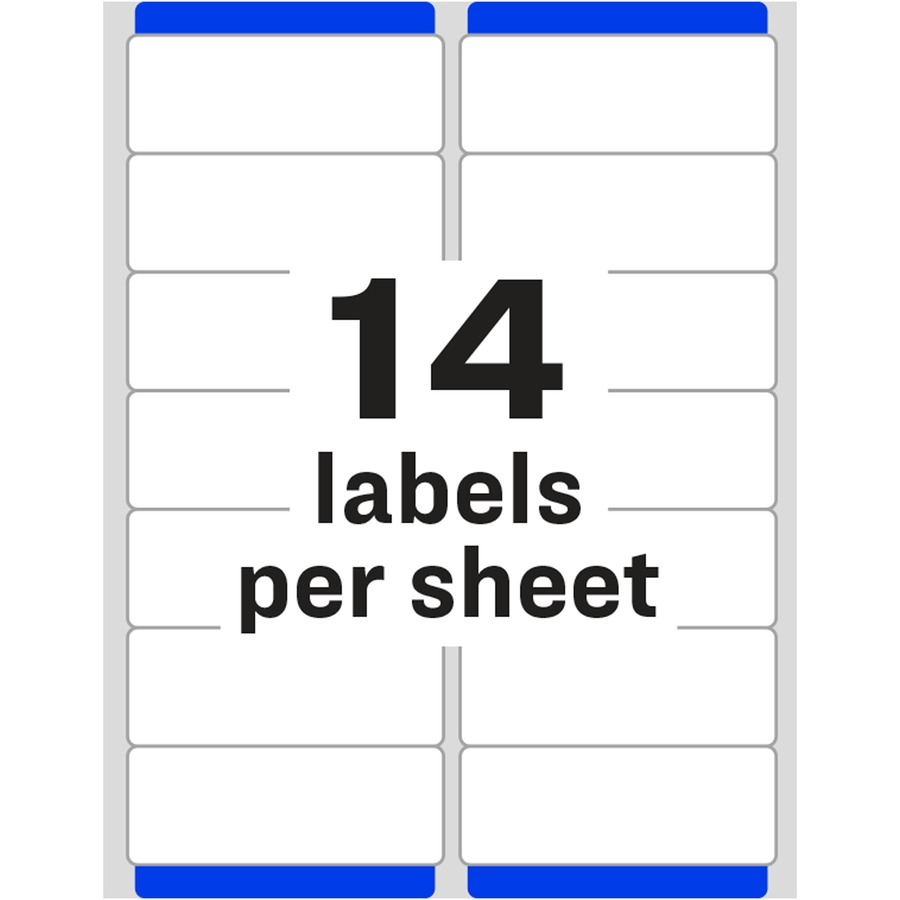 Avery 5962 avery easy peel white mailing labels ave5962 for Template for labels 14 per sheet