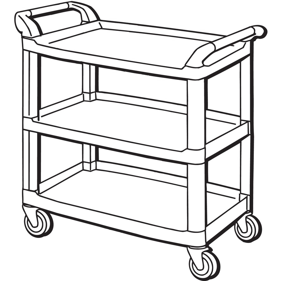 Rubbermaid Commercial 3 Shelf Mobile Utility Cart