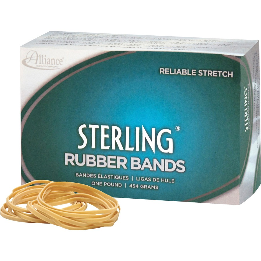 Alliance Sterling Rubber Bands Rubber Band 19 3-1//2 x 1//16 1700 Bands//1lb Box
