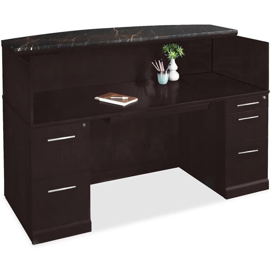 Mayline Sorrento Srcdm Marble Top Reception Desk Zerbee
