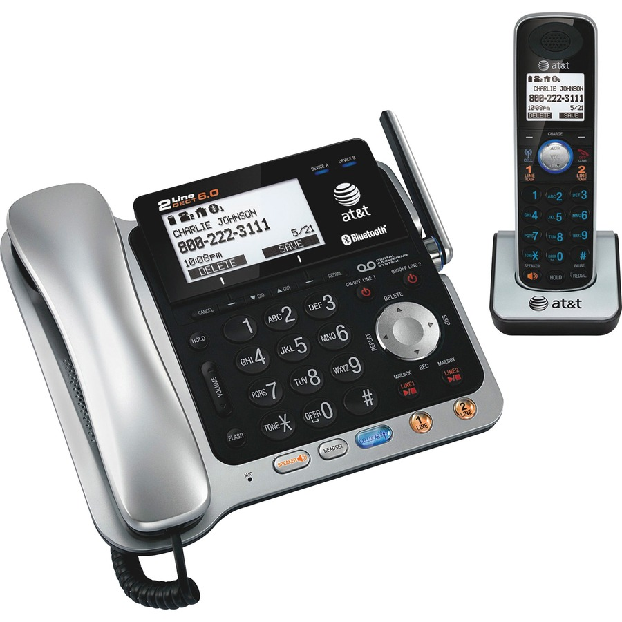 At T Tl86109 At T Tl86109 Cordless Phone With Answering Machine Atttl86109 Att Tl86109 Office Supply Hut