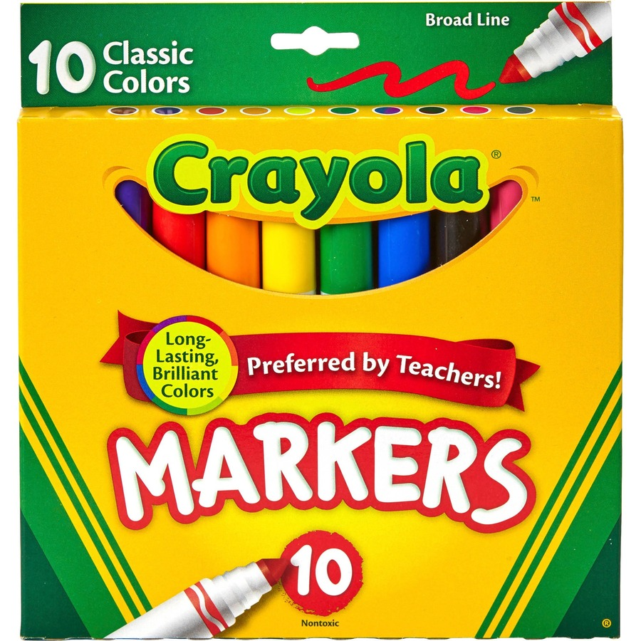 Set of 10 Blackred markers