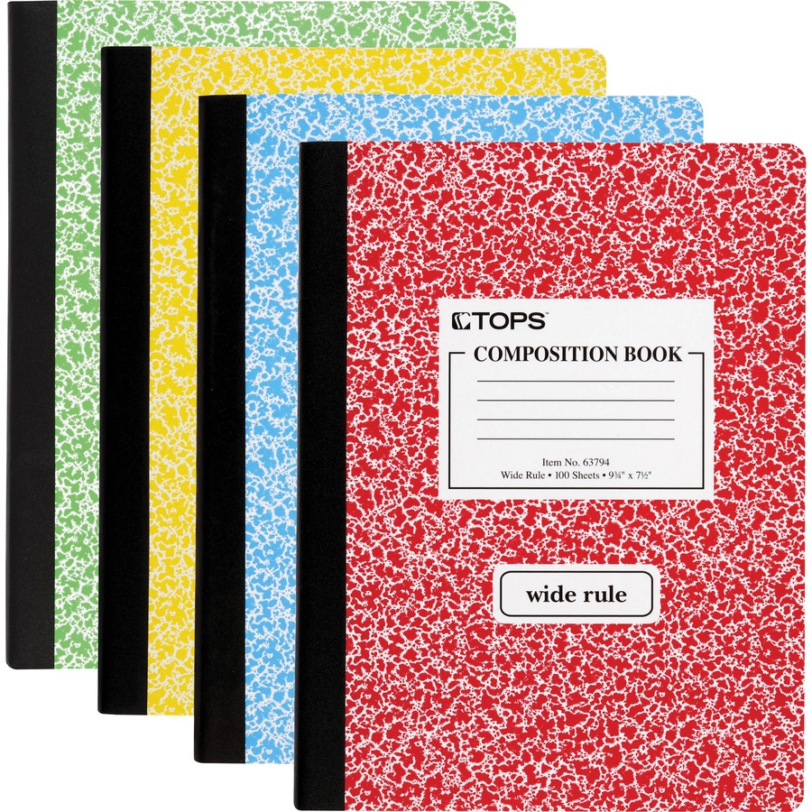 Wide ruled 2 Pacon Marble Composition Notebooks