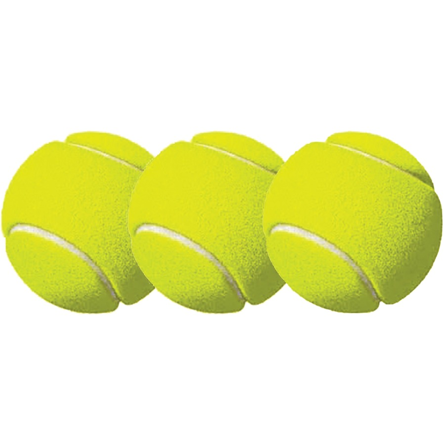 Csitb3 Champion Sports Tennis Ball Pack Of 3 2 50 Yellow 3 Pack Office Supply Hut