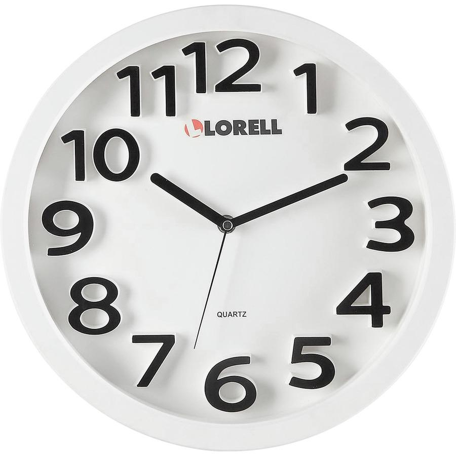 Lorell 13 Quartz Wall Clock One Aa Battery Llr61006 Office Supply Hut