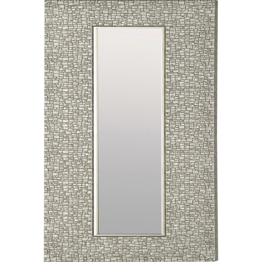 Llr04500 Lorell Mosaic Silver Framed Accent Mirror 1 15 Length Silver Office Supply Hut