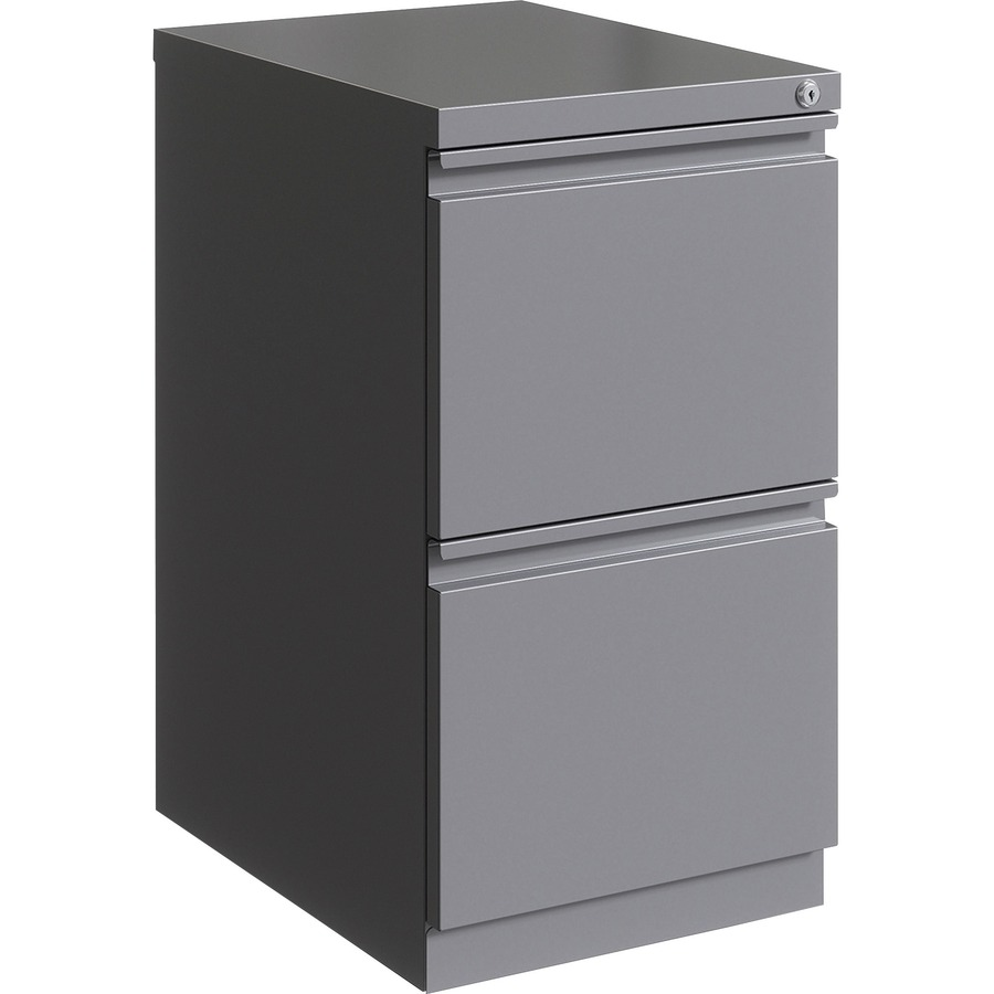 "Lorell 32"" F/F Mobile Pedestal - 32"" x 32.32"" x 32.32"" for File - Letter -  Mobility, Ball-bearing Suspension, Removable Lock, Pull-out Drawer,  Recessed"