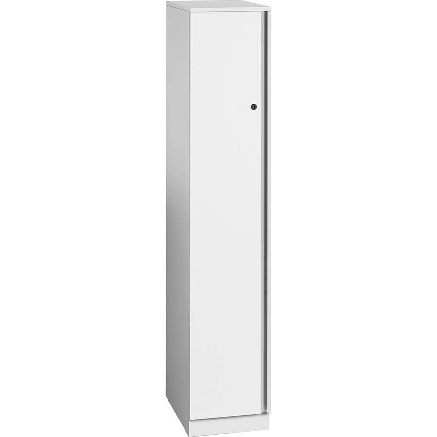 Great Openings Single Locker Wall For Jacket Shoes Overall Size 65 9 X 12 White Metal Officeaero