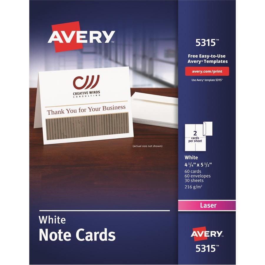 Avery Laser Greeting Card