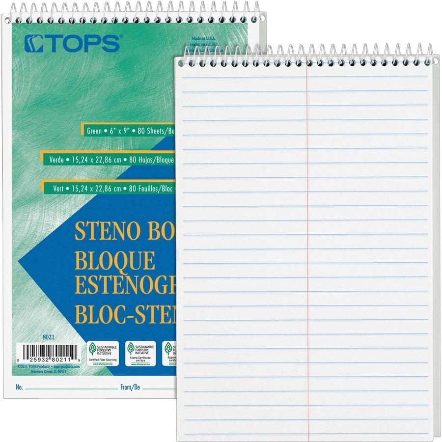 Tops 8020 Steno Book Top8020