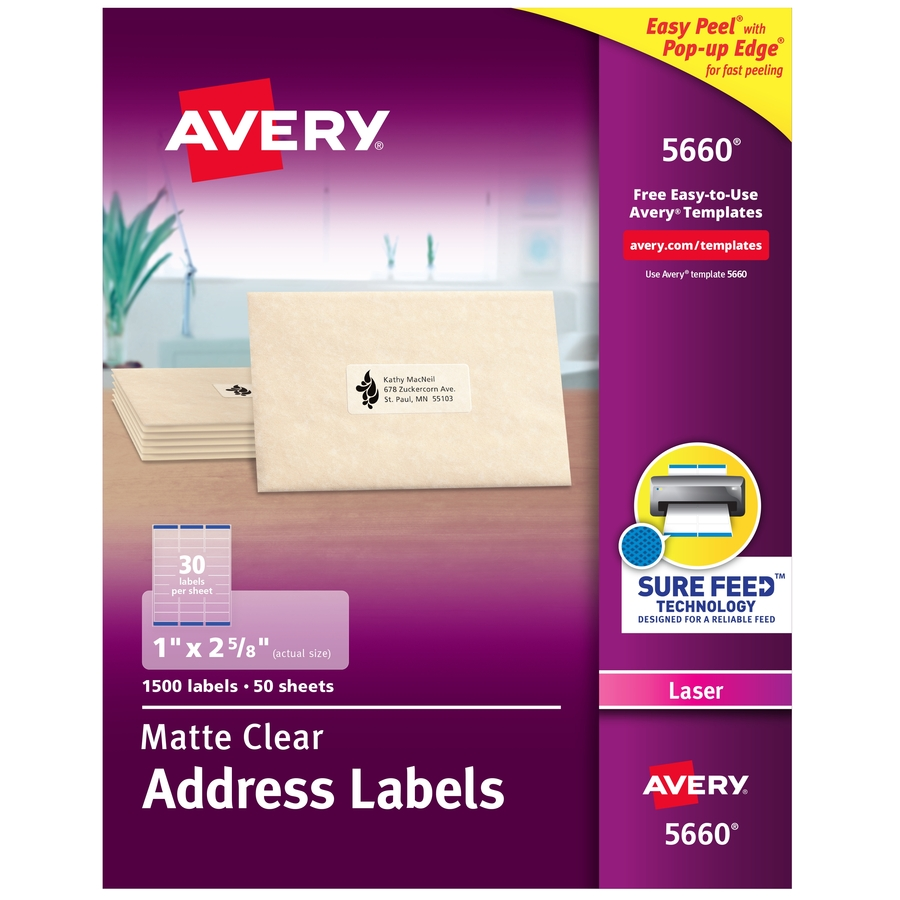 Discount Ave5660 Avery 5660 Avery Matte Clear Easy Peel Address