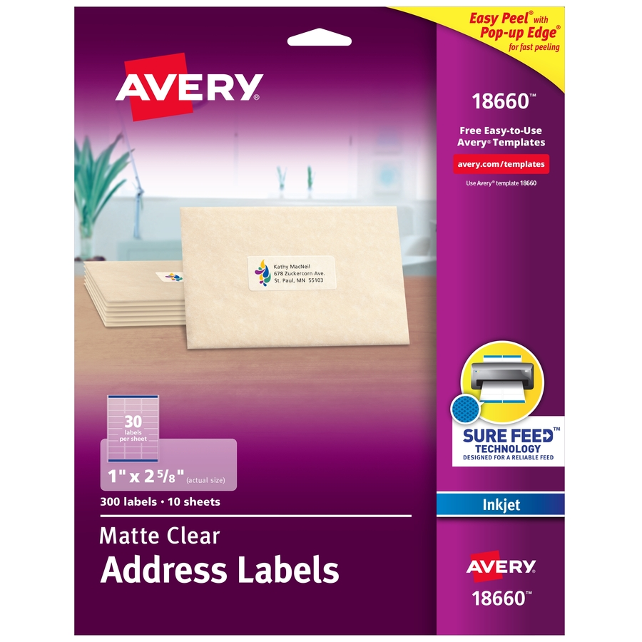 Avery 18660, Avery Mailing Label, AVE18660, AVE 18660