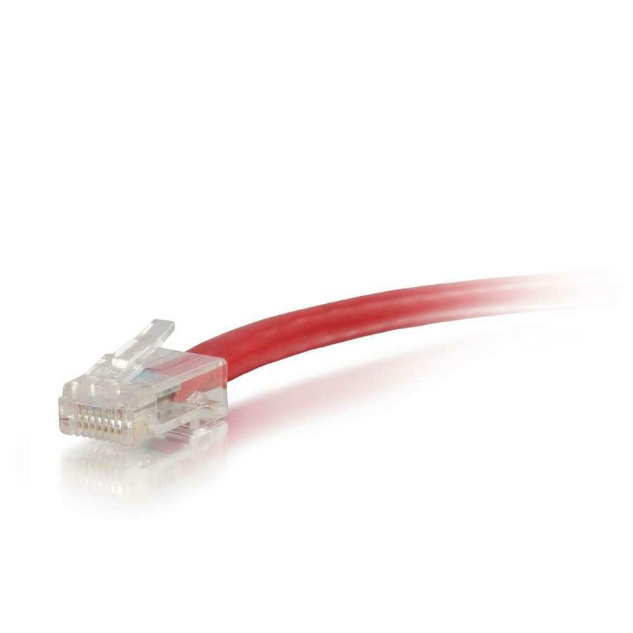 75ft Cat5e Non Booted Unshielded Utp Network Patch Cable Red Cables Gray Ethernet Snagless Molded Boot 75 Foot Category 5e For Device Rj 45 Male All American