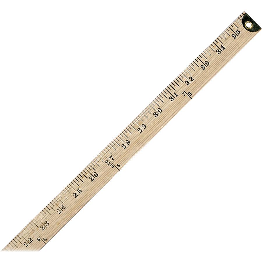 """Westcott Wood Yardstick - 36"""" Length 1"""" Width - 1/8 ..."""