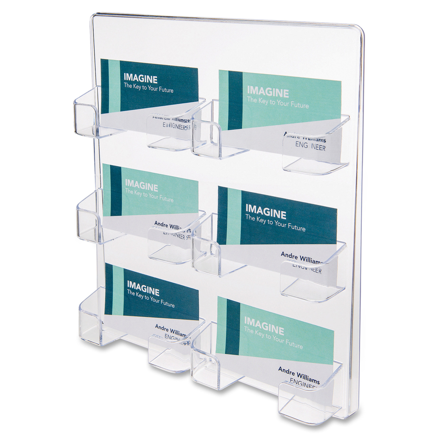 deflecto Wall Mount Business Card Holder - Urban Office Products