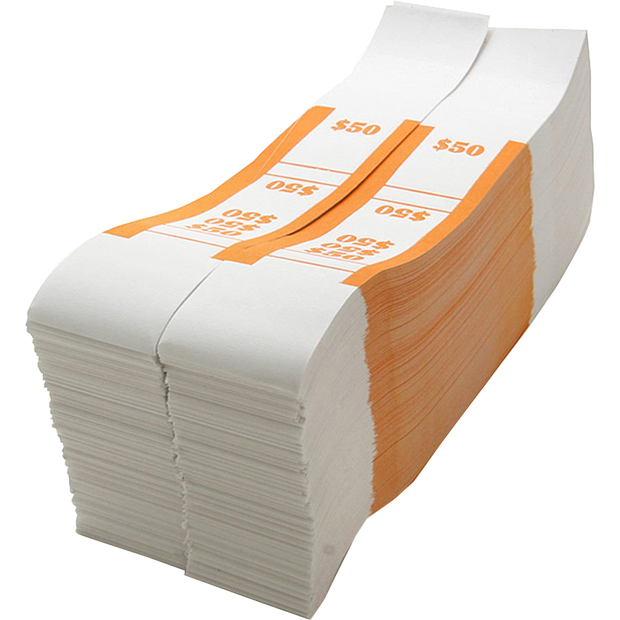 Sparco White Kraft Aba Bill Straps Icc Business Products