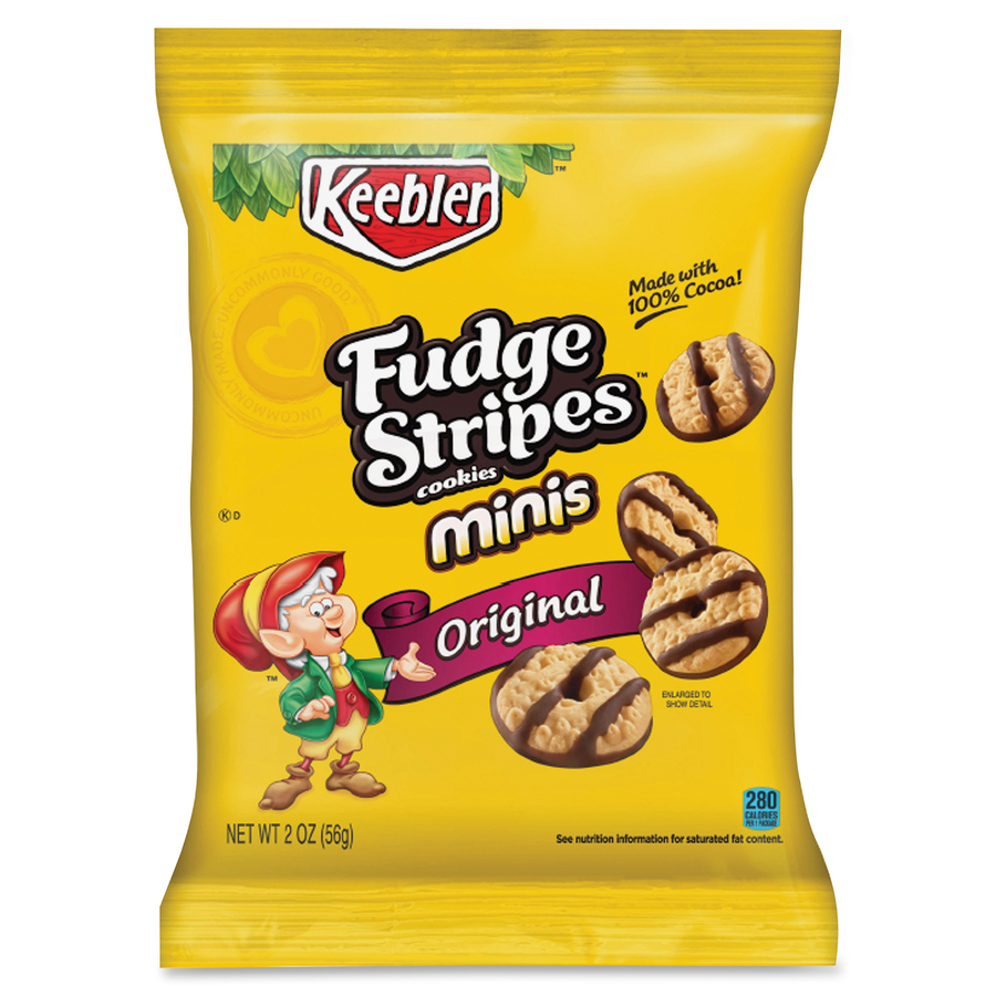 Keebler Fudge Stripes Minis 1 Serving Bag 2 Oz 8 Box