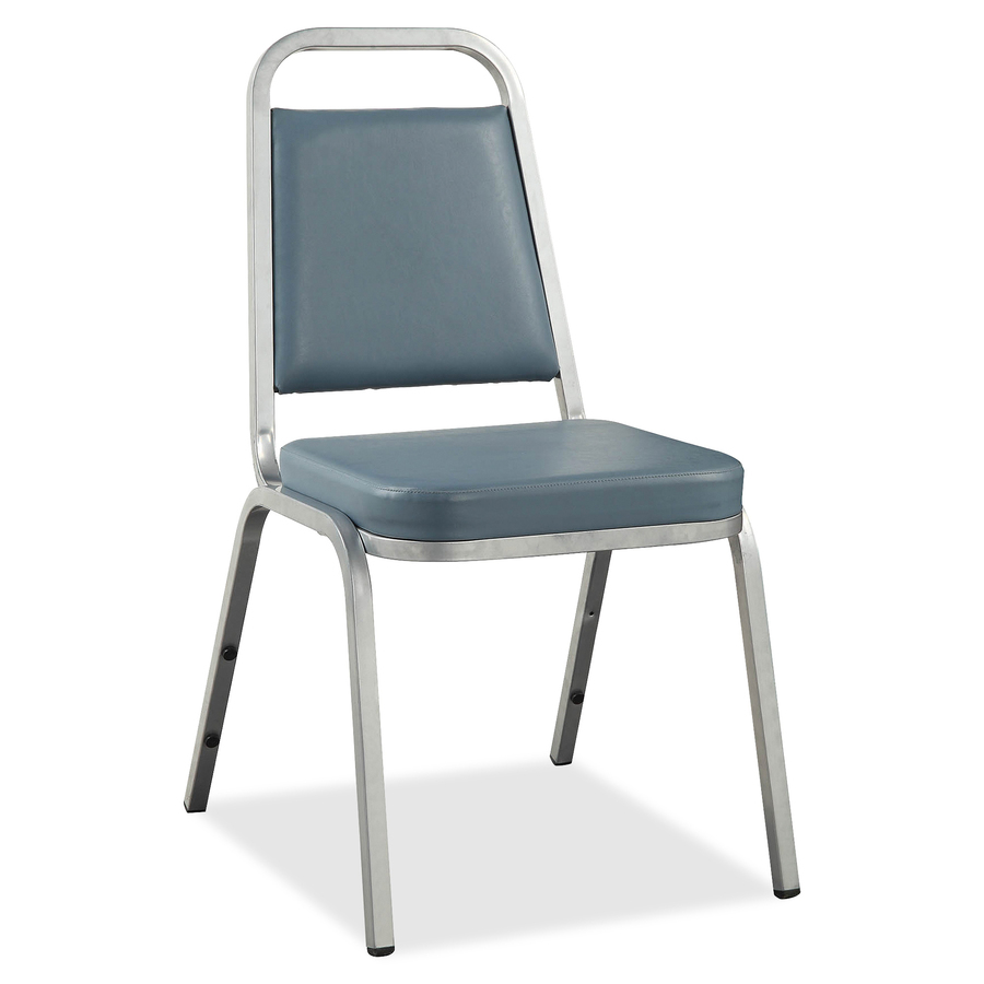 Tobago Stacking Chair Brown Chrome: Lorell 62506, Lorell 8925 Vinyl Upholstered Stacking Chair