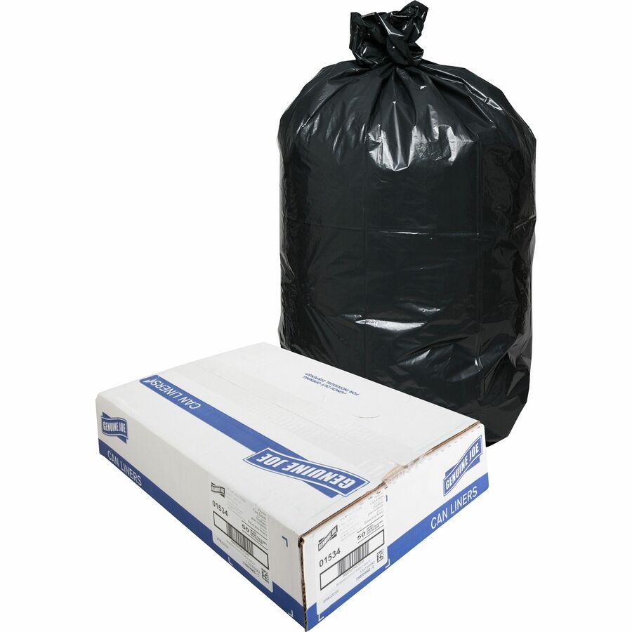 Genuine Joe Heavy-Duty Trash Can Liners - Large Size - 45 gal - 39