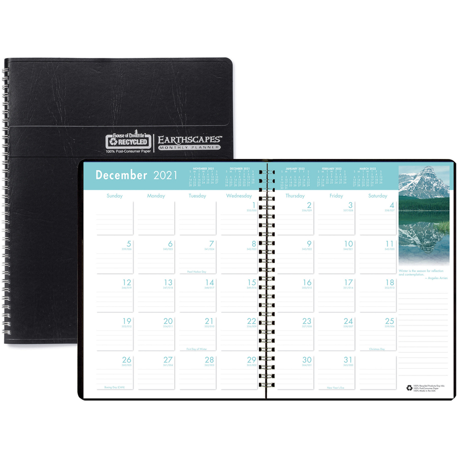 House Of Doolittle Earthscapes Wirebnd Color Monthly Planner Servmart Wiring Planning Original