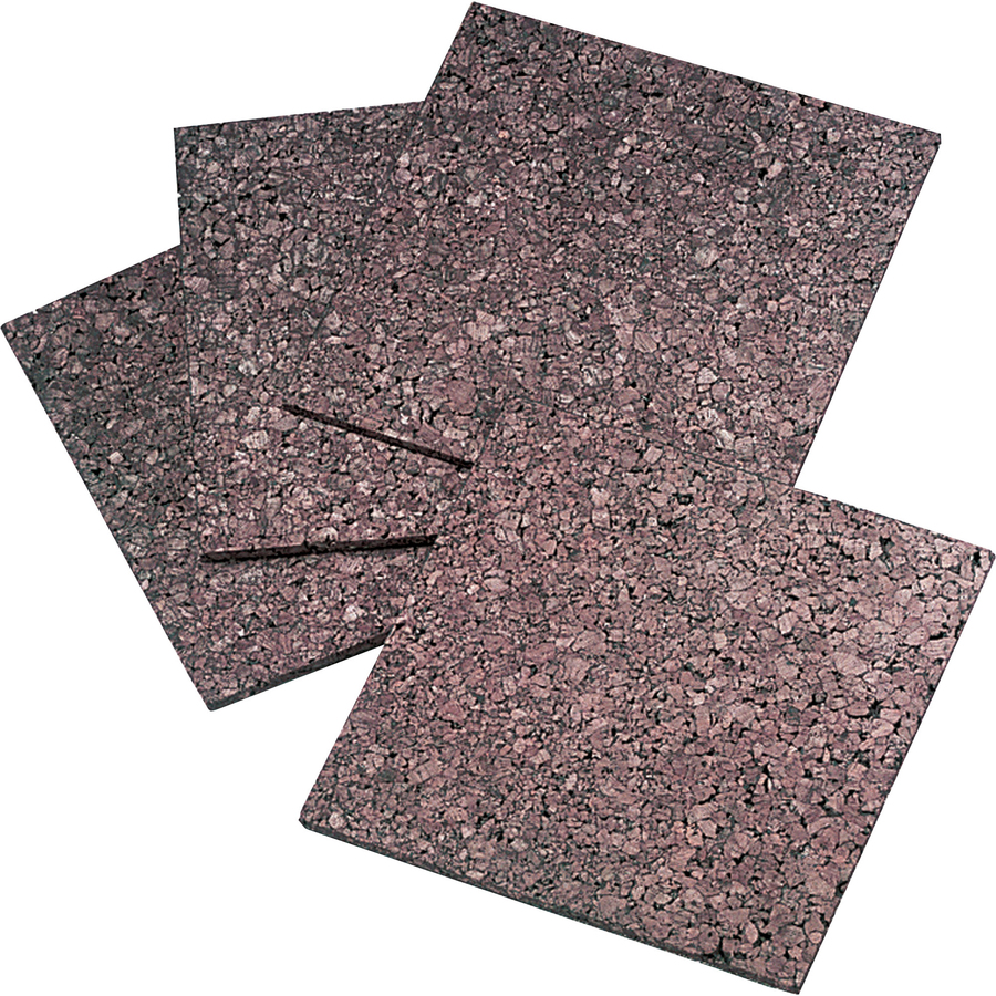 Quartet Frameless Modular Dark Cork Tiles - 12