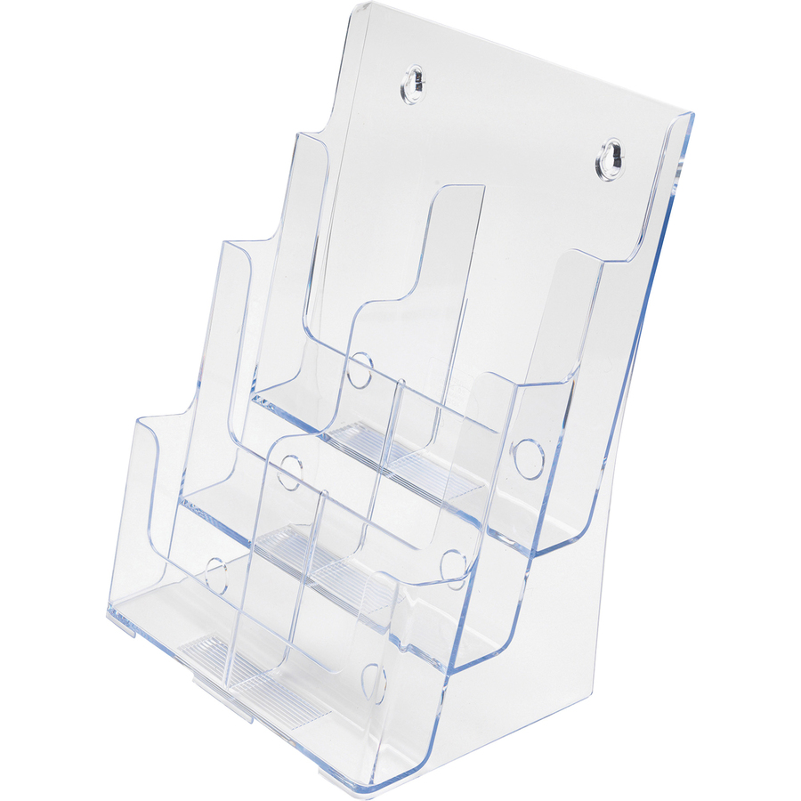 Deflecto 6 leaflet tiered desktop lit holder def 77401 for Lit original